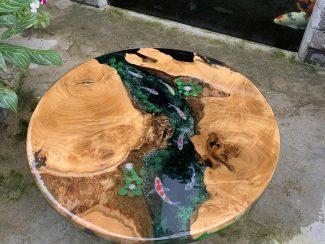 Круглый стол из эпоксидной смолы - 2