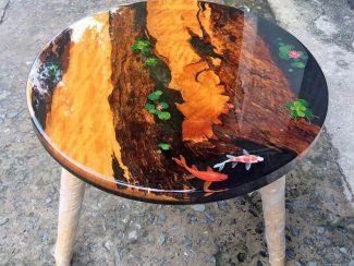 Круглый стол из эпоксидной смолы - 10