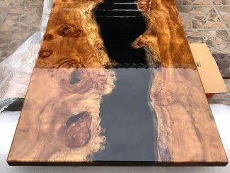 Стол-река с черной смолой - 3